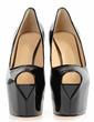 Patent Leather Stiletto Heel Sandals Platform Peep Toe shoes (085026630)