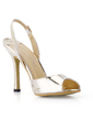 Patent Leather Stiletto Heel Sandals Slingbacks shoes (087022638)