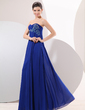 Empire Sweetheart Floor-Length Chiffon Evening Dress With Ruffle Beading (017014047)
