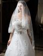 One-tier Waltz Bridal Veils With Lace Applique Edge (006034319)