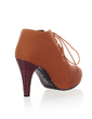 Leatherette Cone Heel Ankle Boots shoes (088036905)