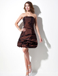 A-Line/Princess Sweetheart Short/Mini Taffeta Homecoming Dress With Ruffle (022010267)