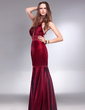 Trumpet/Mermaid Scoop Neck Floor-Length Charmeuse Evening Dress With Beading Sequins (017013061)