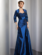 A-Line/Princess Sweetheart Floor-Length Taffeta Mother of the Bride Dress With Ruffle Lace Beading (008014744)