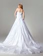 Ball-Gown Sweetheart Chapel Train Taffeta Wedding Dress With Lace Beading Flower(s) (002000680)