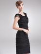 Wąska Dekolt łódka Do Kolan Chiffon Suknia dla Mamy Panny Młodej Z Lace (008006505)