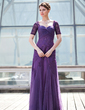 A-Line/Princess Sweetheart Floor-Length Tulle Mother of the Bride Dress With Ruffle Beading Sequins (008018693)