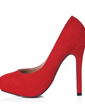 Suede Stiletto Heel Pumps Platform Closed Toe shoes (085017488)