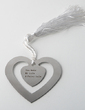 Personalized Heart Shaped Zinc Alloy Bookmarks (051028889)