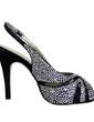 Kadın Satin İnce Topuk Peep Toe Pompalar Sandalet Ile Toka Yapay elmas (047057112)