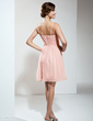 A-Line/Princess V-neck Short/Mini Chiffon Homecoming Dress With Ruffle (022009178)