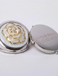 Personalized Lovely Rose Hard plastic Compact Mirror (Set of 4) (051029040)