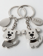Personalized Puppies Zinc Alloy Keychains (Set of 4) (051028899)