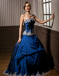 Ball-Gown Strapless Floor-Length Taffeta Quinceanera Dress With Embroidered Ruffle Beading (021003128)