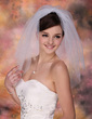 Two-tier Elbow Bridal Veils With Cut Edge (006003767)