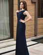 Sheath/Column One-Shoulder Floor-Length Chiffon Bridesmaid Dress With Cascading Ruffles (007027161)