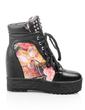 Suni deri Dolgu Topuk Ayak bileği Boots ayakkabı (088056311)