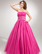 Ball-Gown Sweetheart Floor-Length Organza Quinceanera Dress With Ruffle Beading (021020642)