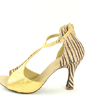 Women's Leatherette Heels Sandals Latin With T-Strap Dance Shoes (053057150)