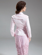 3/4-Length Sleeve Satin Special Occasion Wrap (013012501)