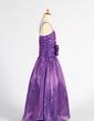 A-Line/Princess Floor-length Flower Girl Dress - Organza Sleeveless Sweetheart With Ruffles/Flower(s) (010014612)