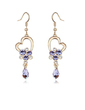 Elegant Alloy/Crystal/Gold Plated With Crystal Women's Earrings (011037045)