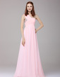 A-Line/Princess One-Shoulder Floor-Length Chiffon Holiday Dress With Ruffle Beading Sequins (020016151)