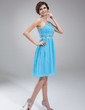 A-Line/Princess Scoop Neck Knee-Length Chiffon Homecoming Dress With Ruffle Beading (022010618)