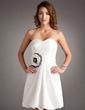 A-Line/Princess Sweetheart Short/Mini Taffeta Homecoming Dress With Ruffle Flower(s) (022016353)