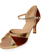 Women's Satin Leatherette Heels Sandals Latin Dance Shoes (053013588)