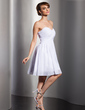 Empire Sweetheart Short/Mini Chiffon Bridesmaid Dress With Ruffle (007014788)