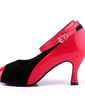 Women's Leatherette Nubuck Heels Sandals Latin With Ankle Strap Dance Shoes (053057181)