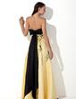 Yüksek Bel Kalp Kesimli Uzun Etekli Satin Mezuniyet Elbisesi Ile Nakışlı Kuşaklar Boncuklama (018002324)