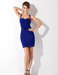 Sheath/Column Sweetheart Short/Mini Chiffon Cocktail Dress With Ruffle Beading (016021076)