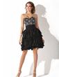 Çan/Prenses Kalp Kesimli Diz Hizası Chiffon Mezunlar Gecesi Elbisesi (022011159)