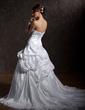 Balo Elbisesi Askısız Şapel Kuyruk Taffeta Gelinlik Ile Büzgü Lace Boncuklama Pullarda (002011405)