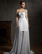 A-Line/Princess Sweetheart Asymmetrical Chiffon Prom Dress With Ruffle Beading (018021112)