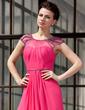 A-Line/Princess Scoop Neck Floor-Length Chiffon Evening Dress With Ruffle Beading (017022865)