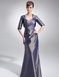 Trumpet/Mermaid Sweetheart Floor-Length Taffeta Mother of the Bride Dress With Ruffle (008006090)
