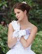 Elastic Satin Wrist Length Bridal Gloves (014026284)