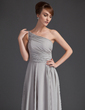 A-Line/Princess One-Shoulder Floor-Length Chiffon Mother of the Bride Dress With Ruffle (008021118)