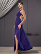 A-Line/Princess Sweetheart Ankle-Length Chiffon Evening Dress With Ruffle Beading Sequins Split Front (017014480)