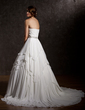 Ball-Gown Sweetheart Court Train Chiffon Wedding Dress With Ruffle Beading Sequins (002011504)