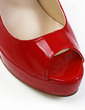 Patent Leather Stiletto Heel Sandals Platform Peep Toe shoes (087029128)