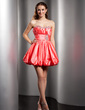 A-Line/Princess Sweetheart Short/Mini Taffeta Homecoming Dress With Ruffle Beading (022020703)