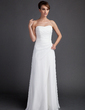 Tubo Coração Sweep/Brush trem De chiffon Vestido de noiva com Pregueado (002011592)