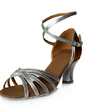 Women's Satin Patent Leather Heels Sandals Latin With Ankle Strap Dance Shoes (053013518)