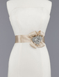 Stylish Satin Sash With Beading/Flower (015012859)