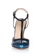 Patent Leather Stiletto Heel Pumps Closed Toe With Split Joint shoes (085026438)