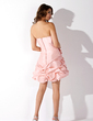 A-Line/Princess Sweetheart Short/Mini Taffeta Homecoming Dress With Ruffle Beading (022020992)